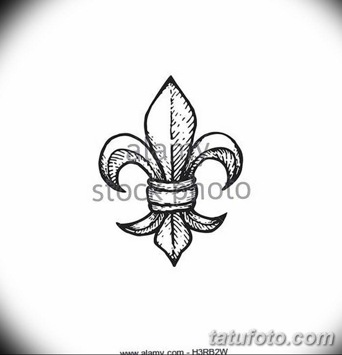эскиз тату геральдическая лилия 12.11.2018 №054 - sketch tattoo heraldic lily - tatufoto.com