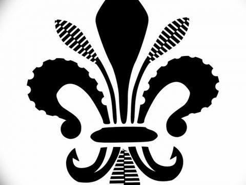 эскиз тату геральдическая лилия 12.11.2018 №057 - sketch tattoo heraldic lily - tatufoto.com