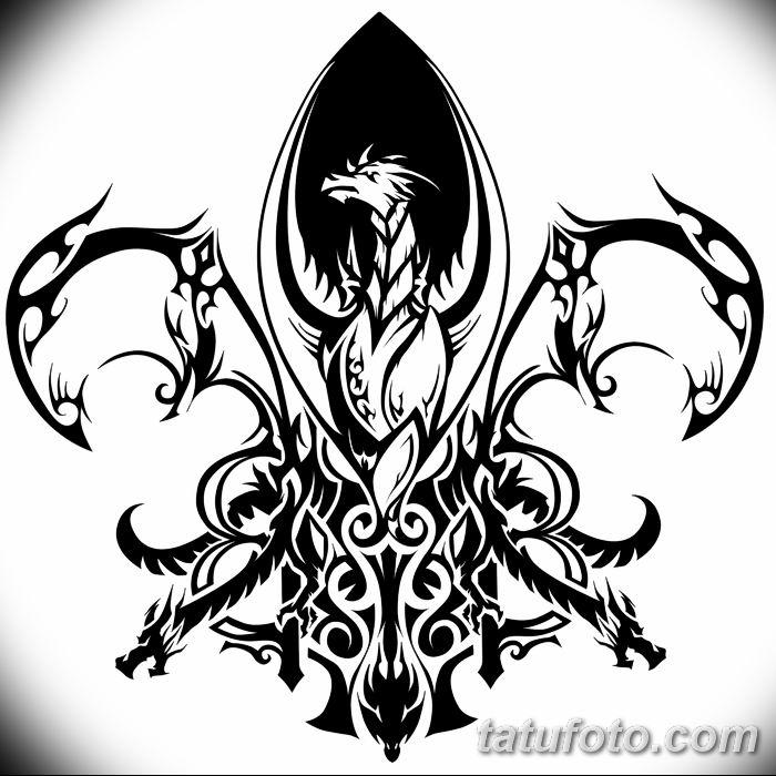 эскиз тату геральдическая лилия 12.11.2018 №059 - sketch tattoo heraldic lily - tatufoto.com