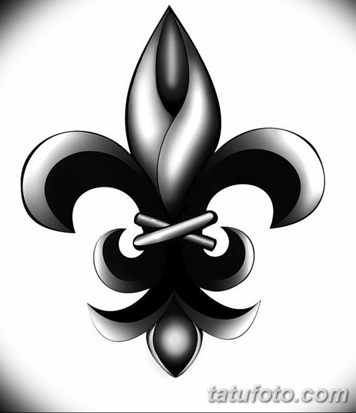 эскиз тату геральдическая лилия 12.11.2018 №065 - sketch tattoo heraldic lily - tatufoto.com
