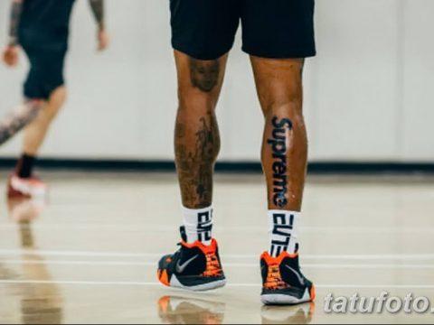 НБА собирается оштрафовать Джея Ар Смита за «коммерческую» (рекламную) татуировку - фото 2