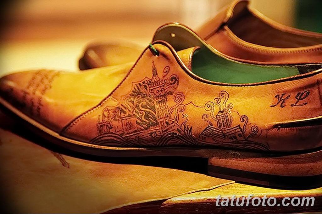 фото Татуировки на обуви 06.12.2018 №001 - photo Tattoos on shoes - tatufoto.com