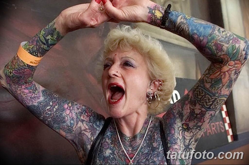 старуха с татухой картинки говоря, когда