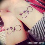 фото тату бесконечность 16.12.2018 №088 - photo tattoo infinity - tatufoto.com