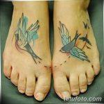 фото тату ласточка для девушки 24.12.2018 №017 - tattoo swallow for a girl - tatufoto.com