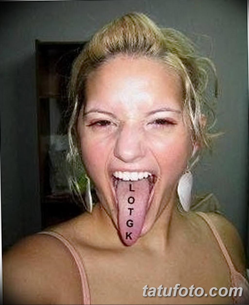 фото фото тату на языке 15.12.2018 №009 - tongue tattoo photo - tatufoto.com