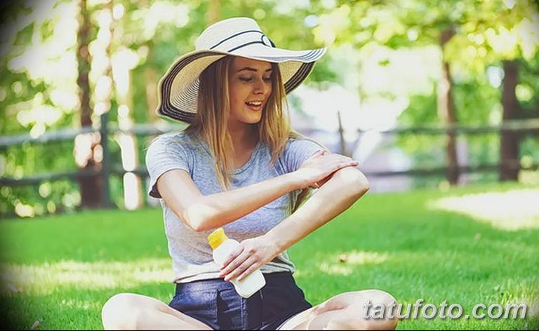 Факторы которые могут стать причиной угасания тату - фото - воздействие солнца
