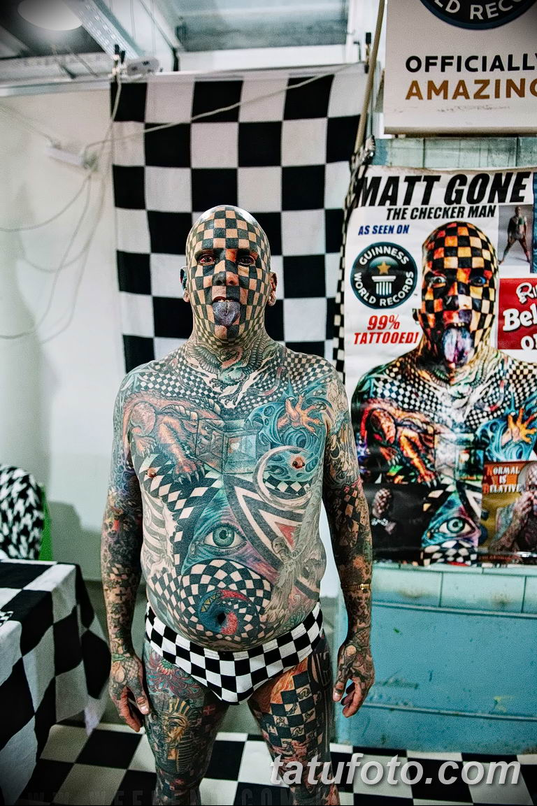 фото Мэтт Гоне тату в квадрат 04.01.2019 №083 - Matt Gone tattoo - tatufoto.com