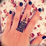фото мехенди кольца на пальцах 25.01.2019 №067 - photo mehendi rings - tatufoto.com