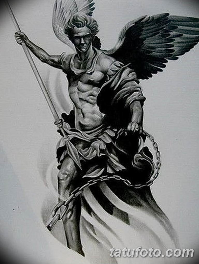 archangel michael tattoo - 768×1016