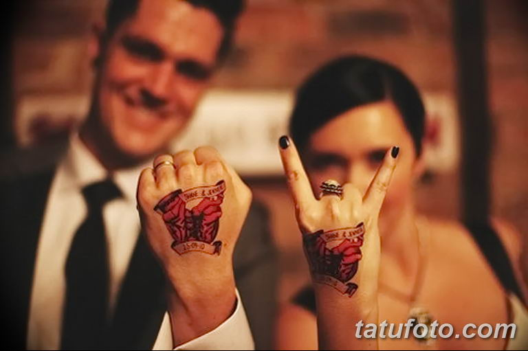 фото тату на свадьбе 30.01.2019 №019 - wedding tattoo photo - tatufoto.com