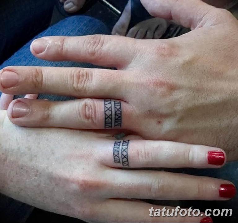 фото тату на свадьбе 30.01.2019 №043 - wedding tattoo photo - tatufoto.com