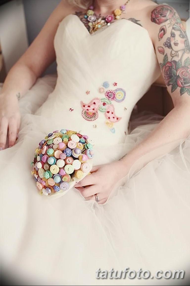 фото тату на свадьбе 30.01.2019 №065 - wedding tattoo photo - tatufoto.com