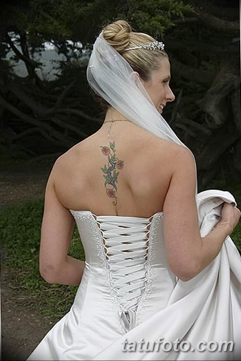 фото тату на свадьбе 30.01.2019 №078 - wedding tattoo photo - tatufoto.com