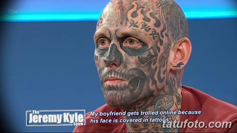 Шоу Джереми Кайла - татуированный гость удивляет гостей студии - фото 1
