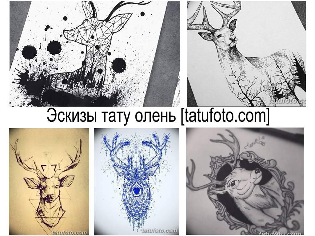 Эскизы тату олень - коллекция рисунков и информация