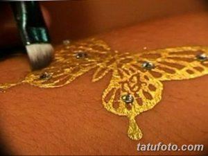 фото Тату золотом 12.02.2019 №009 - photo Gold tattoo - tatufoto.com