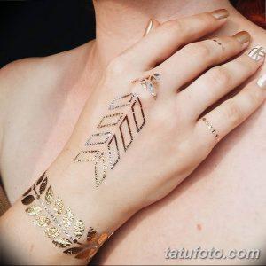 фото Тату золотом 12.02.2019 №027 - photo Gold tattoo - tatufoto.com