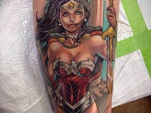 фото тату женщина амазонка 06.02.2019 №025 - photo tattoo woman amazon - tatufoto.com