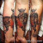 фото тату минотавр 01.02.2019 №049 - example drawing tattoo with a minotaur - tatufoto.com