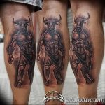 фото тату минотавр 01.02.2019 №065 - example drawing tattoo with a minotaur - tatufoto.com