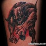 фото тату минотавр 01.02.2019 №089 - example drawing tattoo with a minotaur - tatufoto.com