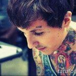 фото тату над бровью 25.02.2019 №049 - photo tattoo over eyebrow - tatufoto.com