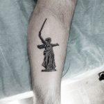 фото тату памятник Родина Мать 05.02.2019 №020 - tattoo Motherland - tatufoto.com