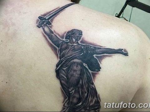 фото тату памятник Родина Мать 05.02.2019 №031 - tattoo Motherland - tatufoto.com