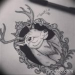 эскиз тату олень 23.02.2019 №010 - sketch tattoo deer - tatufoto.com