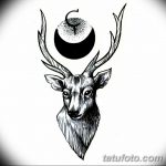 эскиз тату олень 23.02.2019 №011 - sketch tattoo deer - tatufoto.com