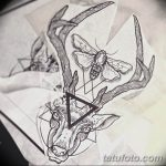 эскиз тату олень 23.02.2019 №024 - sketch tattoo deer - tatufoto.com
