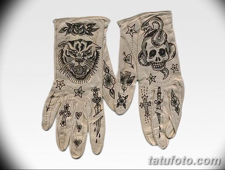 Перчатки с тату - фото 1