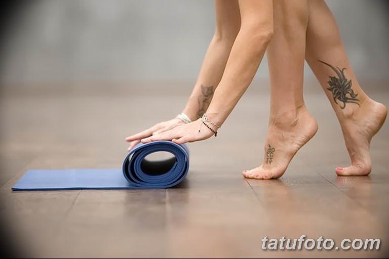 Фото проблемного места для нанесения тату - ноги