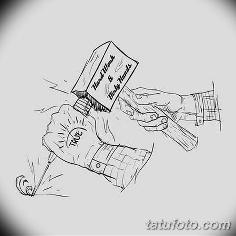 мужской эскиз для тату на руку - 08032019 - tatufoto.com 4