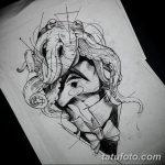 мужской эскиз для тату на руку - 08032019 - tatufoto.com 58