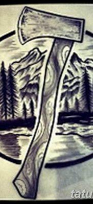 мужской эскиз тату с лесом 09.03.2019 №016 – tattoo sketches – tatufoto.com