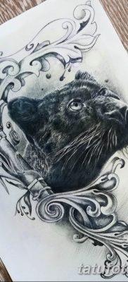 пантера эскиз тату для девушек 08.03.2019 №005 – tattoo sketches – tatufoto.com