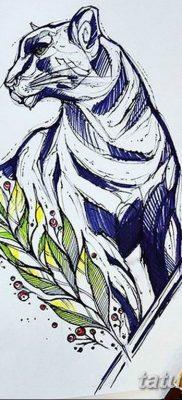 пантера эскиз тату для девушек 08.03.2019 №007 – tattoo sketches – tatufoto.com