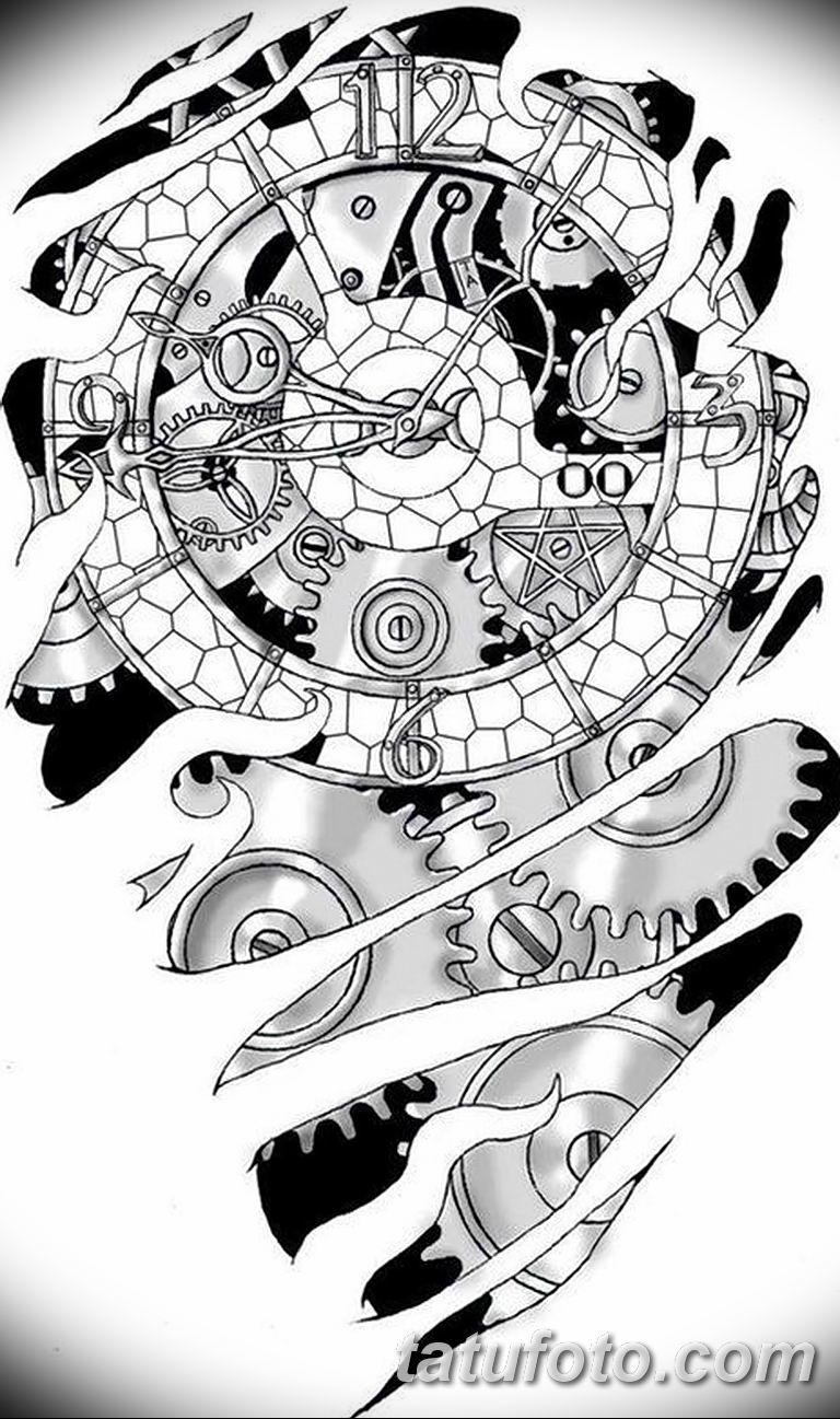 тату биомеханика на руке эскизы 08.03.2019 №006 - tattoo on hand - tatufoto.com