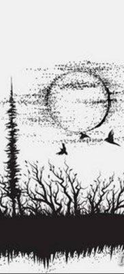 тату лес на руке эскиз – 08.03.2019 – tatufoto.com 6