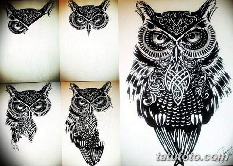 тату сова эскиз для девушек 08.03.2019 №053 - tattoo sketches - tatufoto.com