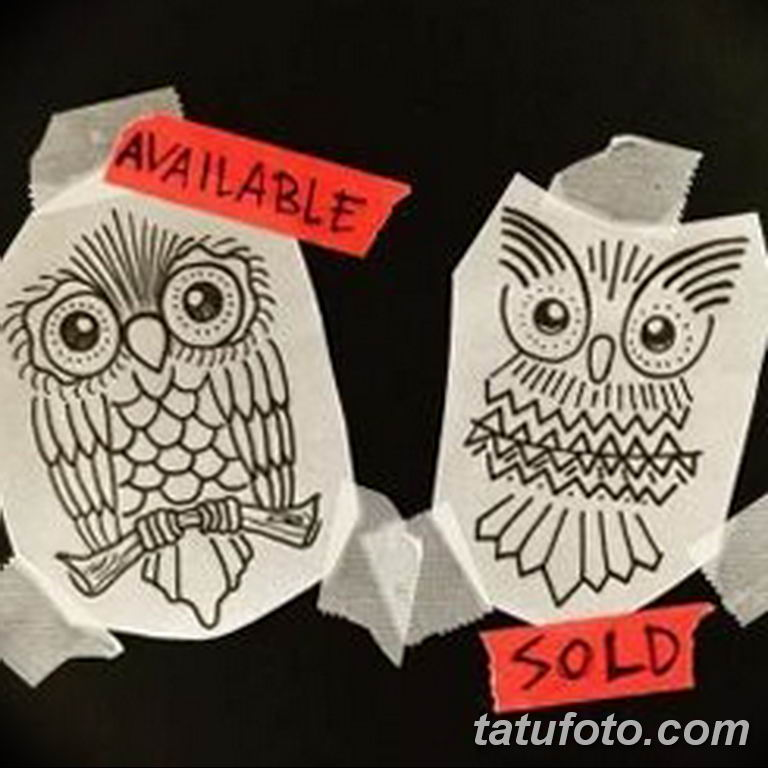 тату сова эскиз для девушек 08.03.2019 №055 - tattoo sketches - tatufoto.com