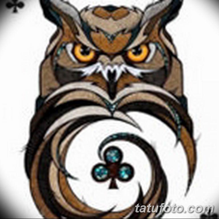 тату сова эскиз для девушек 08.03.2019 №057 - tattoo sketches - tatufoto.com