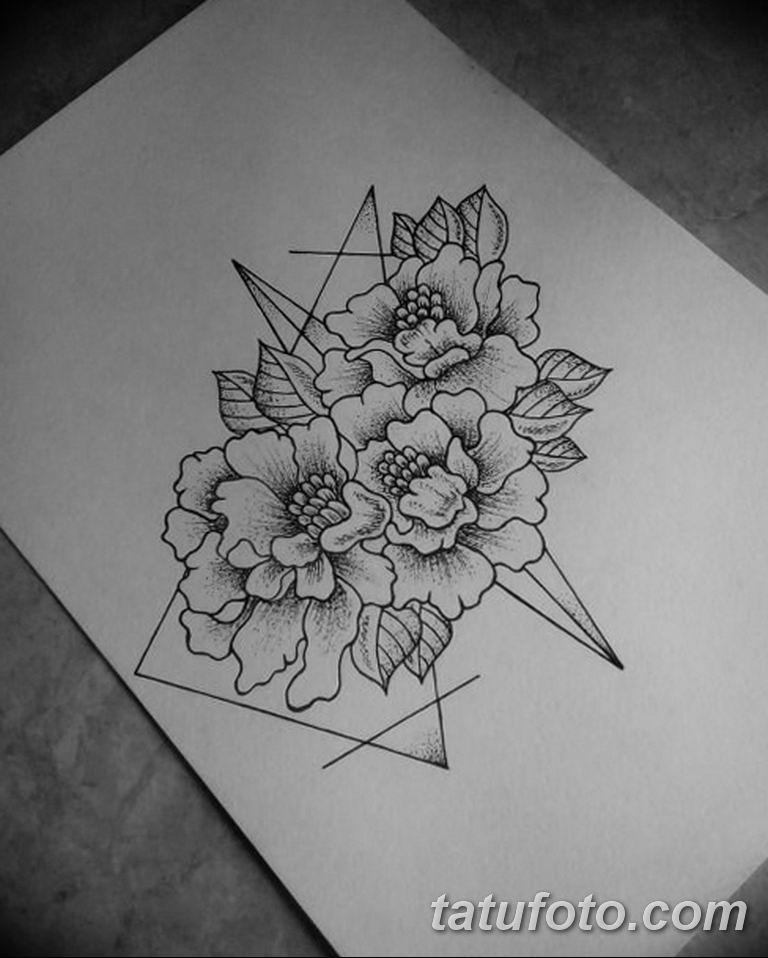 тату эскизы для девушек цветы 08.03.2019 №003 - tattoo sketches - tatufoto.com
