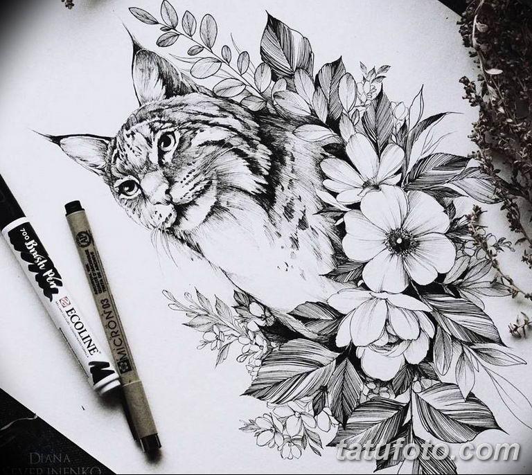 тату эскизы для девушек цветы 08.03.2019 №008 - tattoo sketches - tatufoto.com