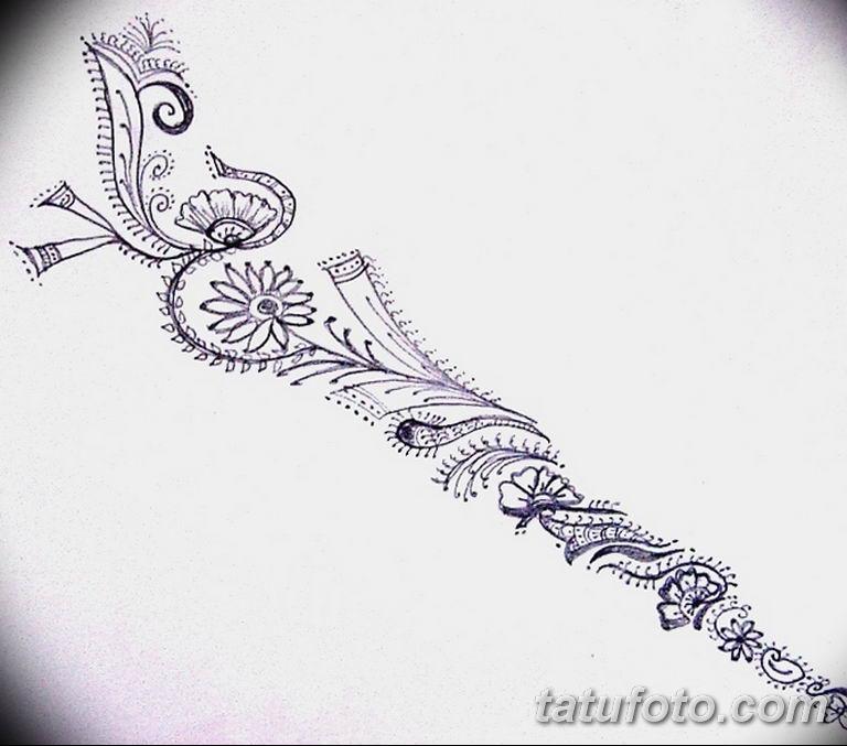 тату эскизы для девушек цветы 08.03.2019 №012 - tattoo sketches - tatufoto.com