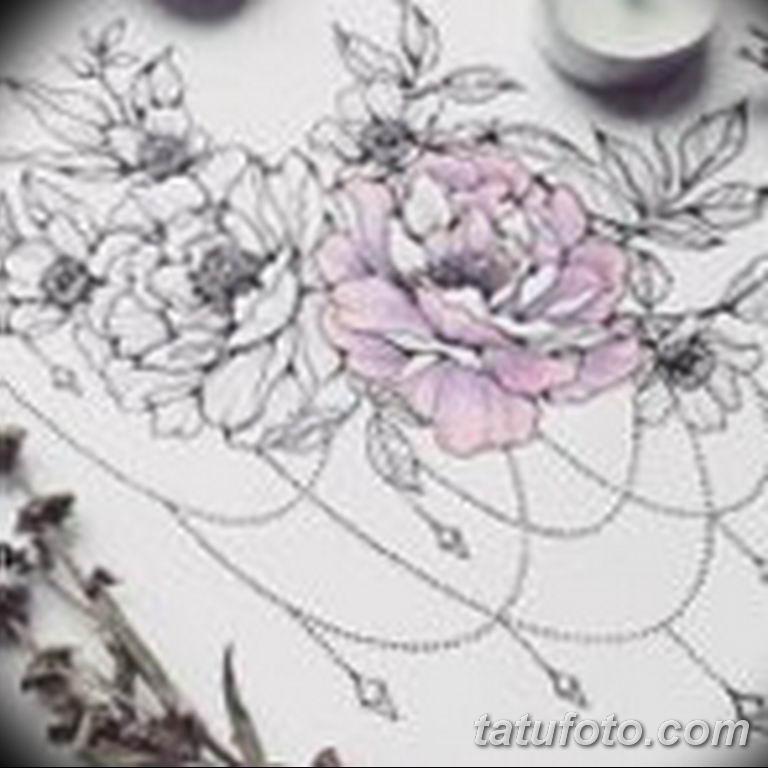тату эскизы для девушек цветы 08.03.2019 №015 - tattoo sketches - tatufoto.com
