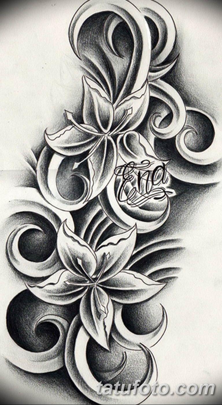 тату эскизы для девушек цветы 08.03.2019 №021 - tattoo sketches - tatufoto.com