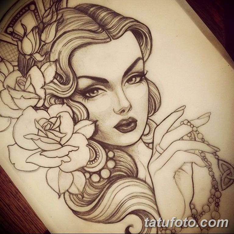тату эскизы для девушек цветы 08.03.2019 №024 - tattoo sketches - tatufoto.com
